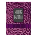 Purple celtic knot alternative wedding invitation