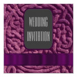 Purple celtic knot alternative wedding invitation