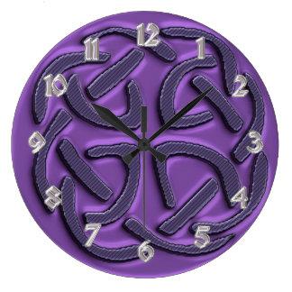 Purple Celtic Knot Clock