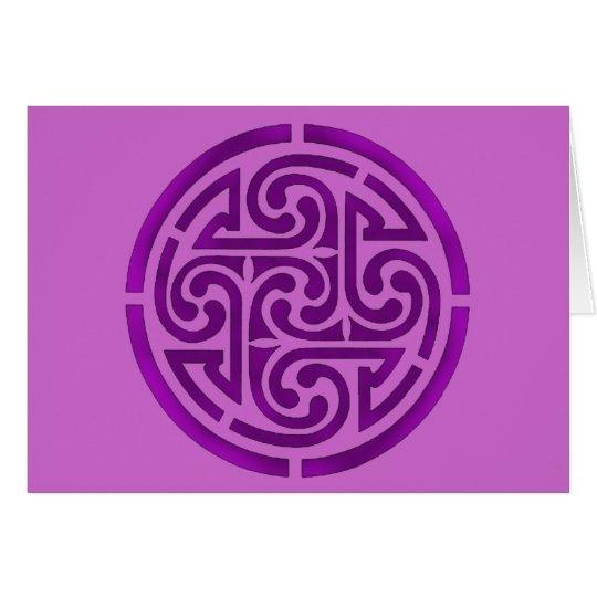 Purple Celtic Knot Design Card