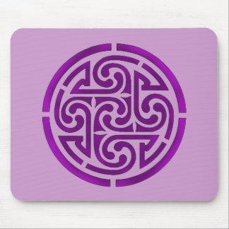Purple Celtic Knot Design Mouse Pad