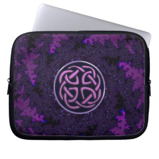 Purple Celtic Knot Fractal Design Computer Sleeve