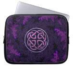 Purple Celtic Knot Fractal Design Computer Sleeve