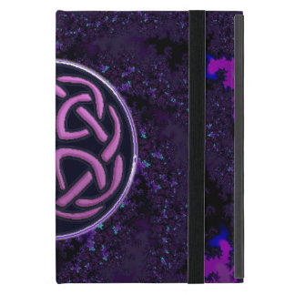Purple Celtic Knot Fractal Design Cover For iPad Mini