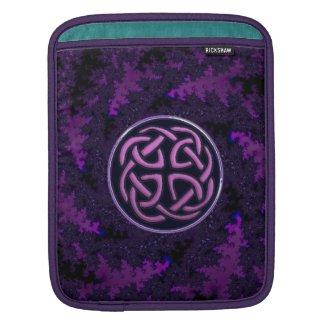 Purple Celtic Knot Fractal Design iPad Sleeve