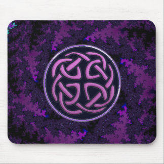 Purple Celtic Knot Fractal Design Mousepads