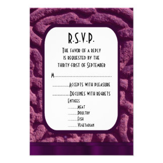Purple celtic knot modern wedding R.S.V.P Card