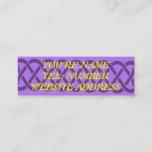 Purple Celtic knot on Violet Mini Business Card