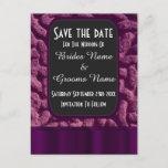 Purple celtic knot save the date announcement postcard