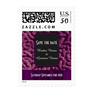 Purple celtic knot save the date postage