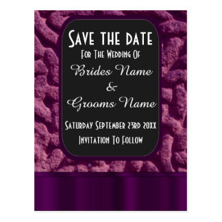 Purple celtic knot save the date postcard