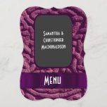 Purple celtic knot  wedding menu