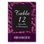 Purple celtic knot wedding table number