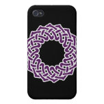 Purple celtic knotwork basket iPhone 4/4S cover