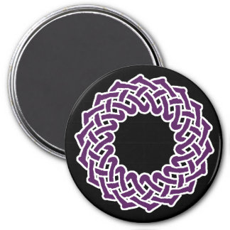 Purple celtic knotwork basket magnet
