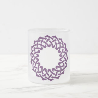 Purple celtic knotwork basket mugs