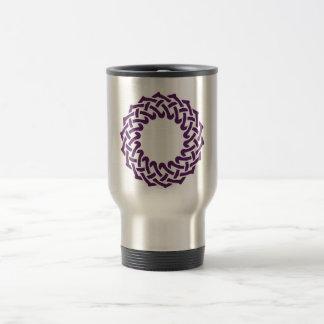 Purple celtic knotwork basket mug