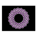 Purple celtic knotwork basket postcard