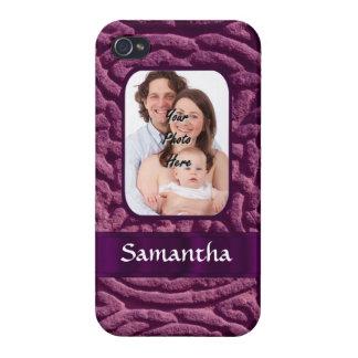 Purple Celtic knotwork symbol iPhone 4 Case
