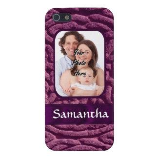 Purple Celtic knotwork symbol iPhone SE/5/5s Cover
