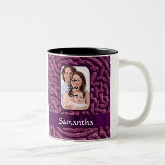 Purple Celtic knotwork symbol Two-Tone Coffee Mug