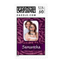 Purple Celtic knotwork symbol Postage