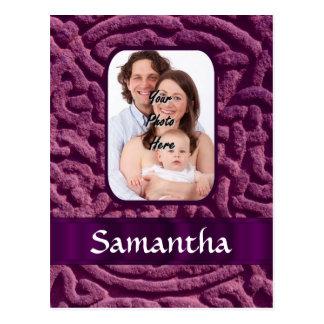 Purple Celtic knotwork symbol Postcard