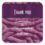 Purple Celtic knotwork thank you Square Sticker