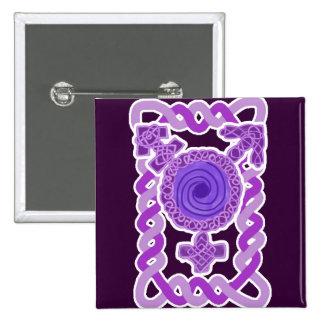 Purple Celtic Knotwork Transgender Symbol Pinback Button