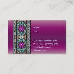 Purple Celtic Lace Business Card