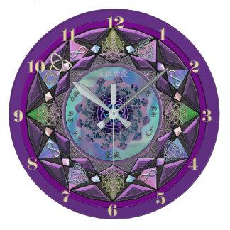 Purple Celtic Mandala Wall Clock