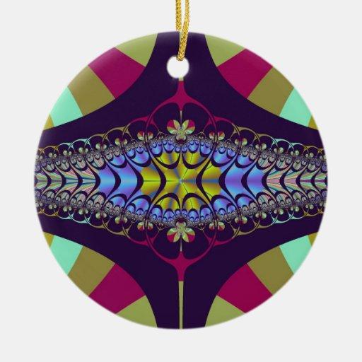 Purple Centipede Fractal Christmas Tree Ornament