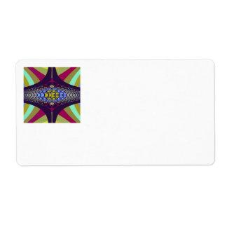Purple Centipede Fractal Label