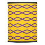 [ Thumbnail: Purple Chain-Like Pattern On a Yellow Background Lamp Shade ]