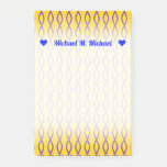 [ Thumbnail: Purple Chain-Like Pattern On a Yellow Background Notes ]