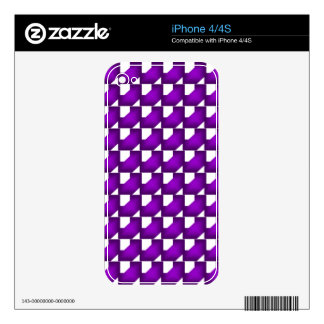 Purple Chained Tiles iPhone 4S Skins