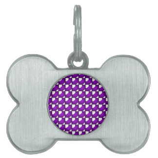 Purple Chained Tiles Pet ID Tag