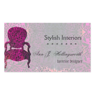 Purple Chair Template Business Card Templates