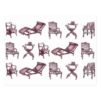 Purple chairs postcard
