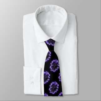 Purple Chalk Drawn Merry and Bright Holiday Tie