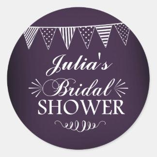 Purple Chalkboard Bridal Shower Sticker