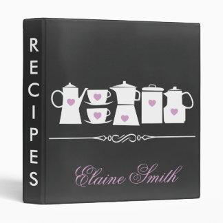 Purple Chalkboard Kitchen Bridal Recipe Folder