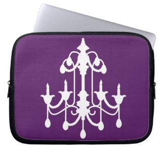 Purple Chandelier Laptop Sleeve