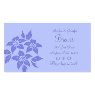 Purple Change of Address Contact Information Card Business Card