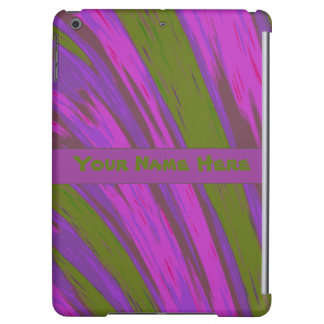 Purple chartreuse Color Abstract iPad Air Cover