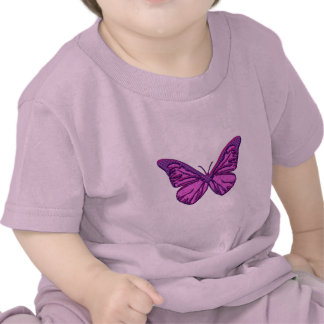 Purple Check Butterfly Tee Shirt