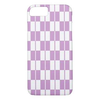 Purple Checker Board iPhone 7 Case