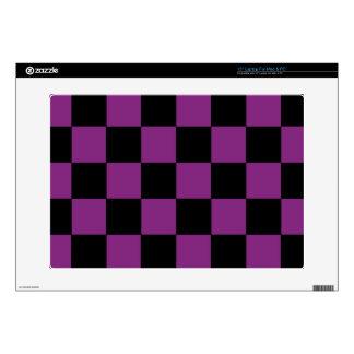 Purple Checker Laptop Skin