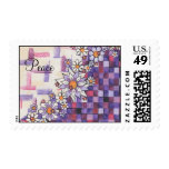 Purple Checkerboard Stamp