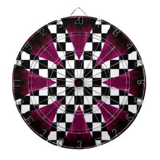 Purple Checkerboard Wild Girlie Darts Dartboard